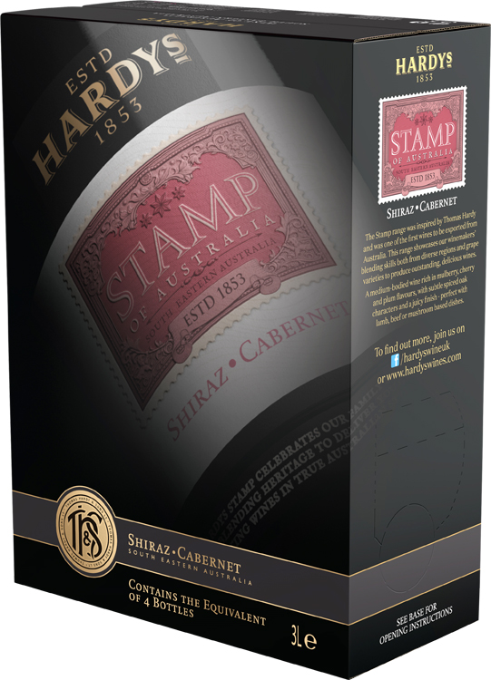 Hardys Stamp Shiraz Cabernet 3 Litre Wine Box