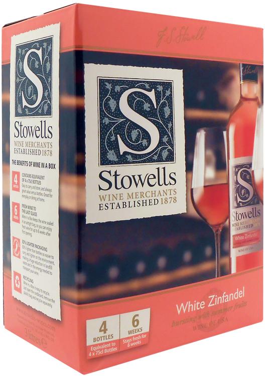 Stowells White Zinfandel 3 Litre Wine Box Calais Wine